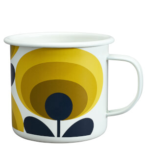 Orla Kiely Enamel Mug 70's Flower - Dandelion
