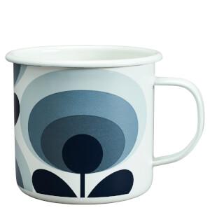Orla Kiely Enamel Mug 70's Flower - Slate