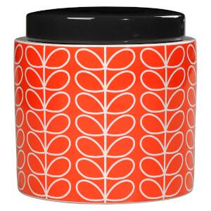 Orla Kiely Linear Stem Storage Jar - Persimmon