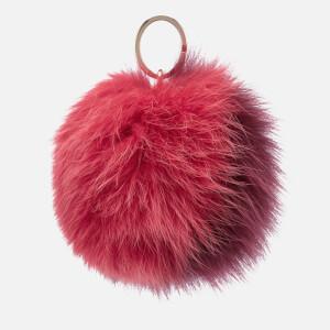 Furla Women's Bubble Pom Pom Bicolor Keyring - Rosa