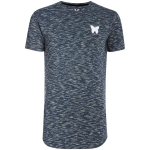 T-Shirt Homme Textured Rib Good For Nothing -Bleu Marine