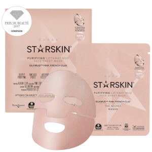 STARSKIN SILKMUD™ Pink French Clay Purifying Liftaway Mud Face Sheet Mask