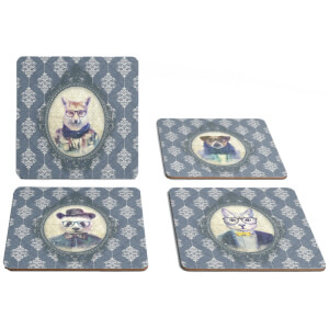 Hipster Animal Coasters Collection Two