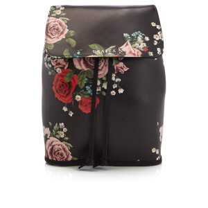 Grafea Fey Blossom Leather Rucksack - Black