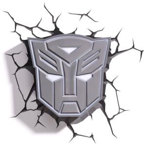 Lampe Murale 3D Transformers Bouclier Autobot