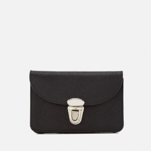The Cambridge Satchel Company Women's Small Push Lock Purse - Black Saffiano