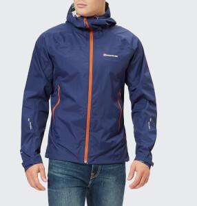 Montane Men's Atomic Rain Shell Jacket - Antarctic Blue/Tangerine