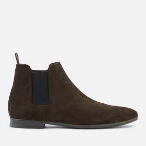 HUGO Men's Pariss Suede Chelsea Boots - Dark Brown