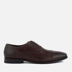 BOSS Hugo Boss Men's High Line Leather Toe Cap Oxford Shoes - Dark Brown