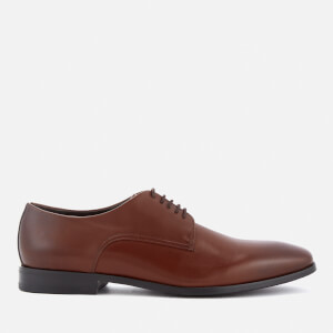 BOSS Hugo Boss Men's High Line Leather Derby Shoes - Medium Brown