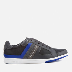 BOSS Green Men's Metro Club Low Top Trainers - Dark Grey
