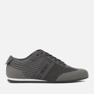 BOSS Green Men's Lighter Knitted Low Top Trainers - Medium Grey