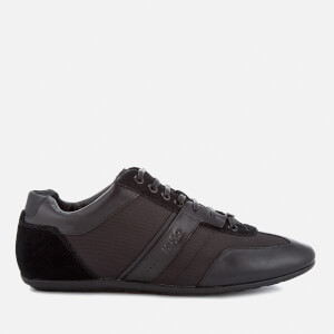 HUGO Men's That's Life Leather Low Top Trainers - Black