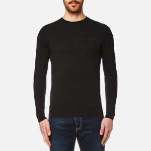 Superdry Men's Orange Label Crew Knitted Jumper - Charcoal/Black Twist