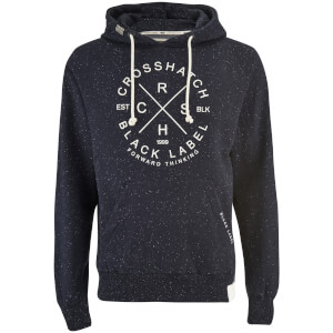 Crosshatch Men's Fizzy Fleck Fabric Hoody - Nightsky Navy