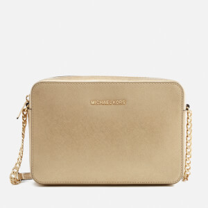 MICHAEL MICHAEL KORS Women's Jet Set Large East West Cross Body Bag - Pale Gold