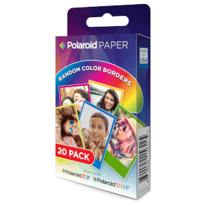 Recharge de 20 Papiers Photo Polaroid Rainbow Border (2'x3')