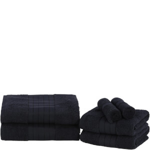 Highams 100% Egyptian Cotton 6 Piece Towel Bale (500 gsm) - Black