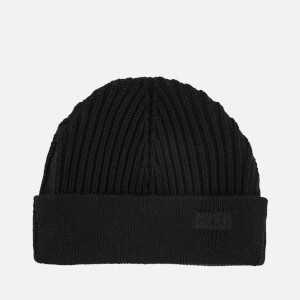 HUGO Men's Xianno Wool Knitted Beanie Hat - Black
