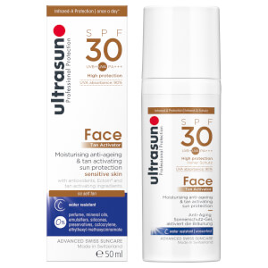 Лосьон-ускоритель загара для лица Ultrasun Tan Activator for Face SPF30 50 мл
