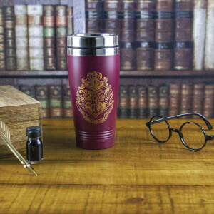 Thermos De Voyage Blason Poudlard Harry Potter - Bordeaux
