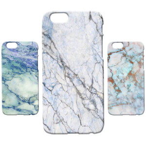 Marble Texture Phone Case for iPhone and Android - Blue Marbles