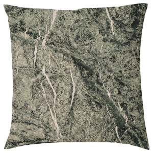 Marble Print Cushion - Black