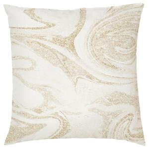 Marble Print Cushion - Gold