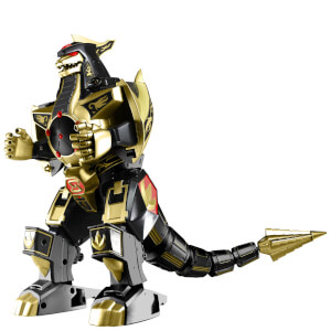 Figurine Dragonzord Or et Noir Power Rangers Legacy