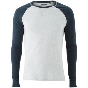 Camiseta manga larga Brave Soul Osbourne - Hombre - Crudo/azul
