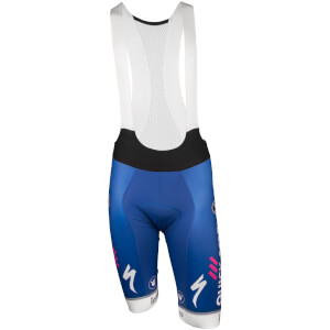 Quick-Step Bib Shorts - Blue/White