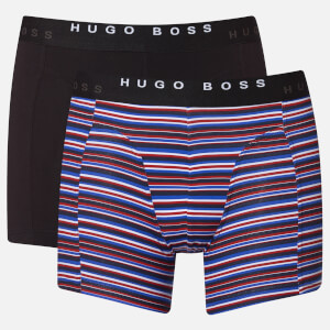 BOSS Hugo Boss Men's 2 Pack Print Boxer Briefs - Open Blue