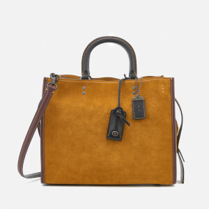 Coach 1941 Women's Colourblock Suede Rogue Bag - Oak