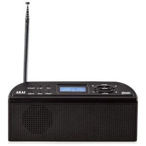 Akai Portable Battery Operated DAB Radio - Black