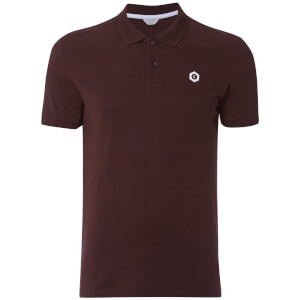 Jack & Jones Men's Core Booster Logo Polo Shirt - Burgundy