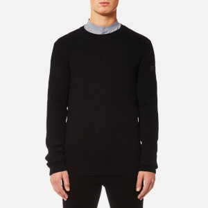 HUGO Men's Somael Rib Knit Jumper - Black