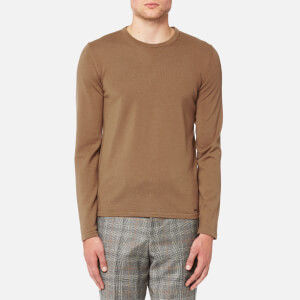 HUGO Men's San Paolo Crew Neck Wool Jumper - Rust/Copper