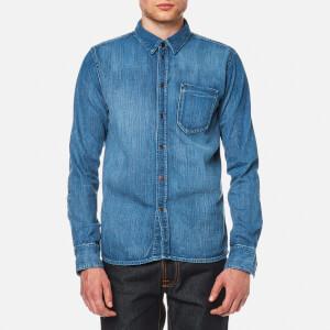 Nudie Jeans Men's Henry Denim Shirt - Authentic Wash