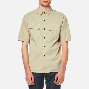 Nudie Jeans Men's Svante Pocket Short Sleeve Shirt - Over Dyed Sand