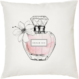 Coussin Imprimé Parfum Enjoy The Small Things -Blanc (45 x 45cm)