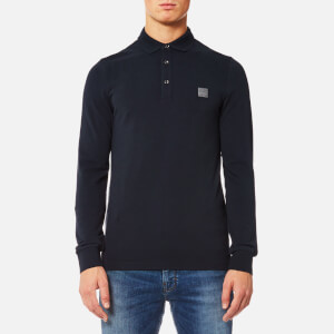 BOSS Orange Men's Paulyn Long Sleeve Polo Shirt - Dark Blue