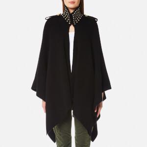 MICHAEL MICHAEL KORS Women's Stud Collar Cape - Black