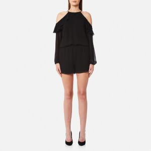 MICHAEL MICHAEL KORS Women's Cold Shoulder Romper - Black