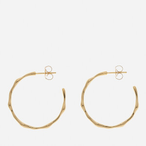 Missoma Women's Gold Medium Molten Hoops - Gold