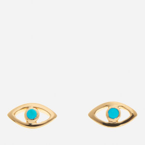 Missoma Women's Evil Eye Turquoise Stud Earrings - Gold
