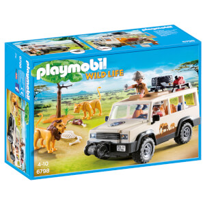 PLAYMOBIL Wildlife: Vehículo Safari con leones (6798)