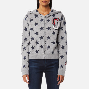 Marc Jacobs Women's Hoody Star Print Sweatshirt - Grey Melange