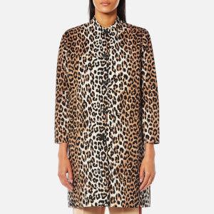 Ganni Women's Fabre Cotton Jacket - Leopard