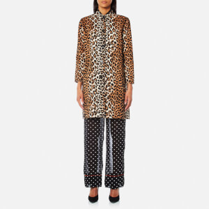 Ganni Women's Fabre Cotton Jacket - Leopard