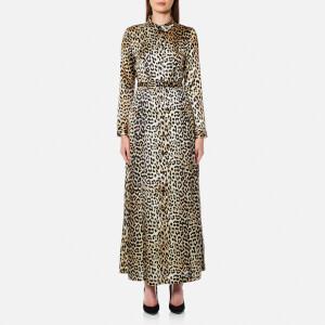 Ganni Women's Dufort Silk Dress - Leopard